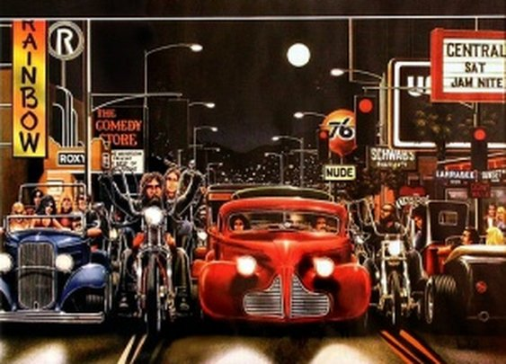 EASYRIDERS DAVE MANN | BIKER ART « The Selvedge Yard