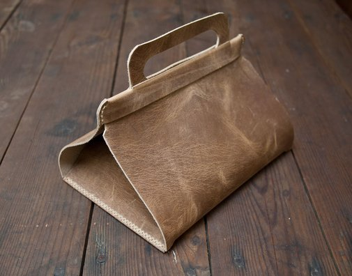 Leather Lunch Tote | Wood&Faulk