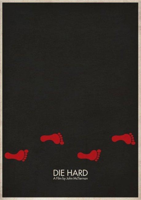 Die Hard minimalist movie poster.