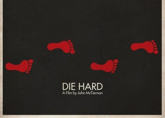 Die Hard minimalist movie poster.