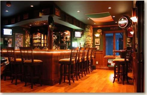 Garage or Irish pub  = tough choice