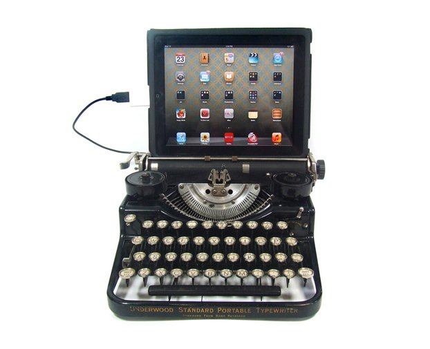 iPad Meets Antique Typewriter