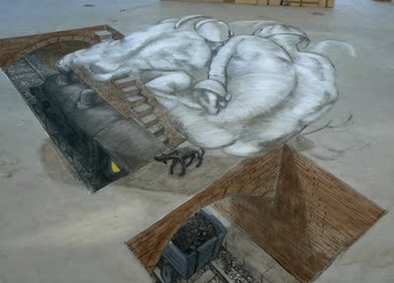 Sidewalk Art taken to another level