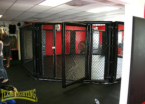 The Cage. Where dude's become better friends!