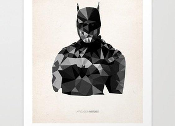Polygon Heroes - Batman Art Print