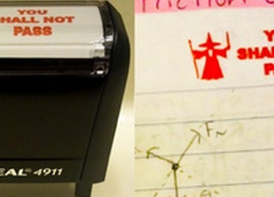 Gandalf teacher's stamp is the classiest way to fail students and/or Balrogs
