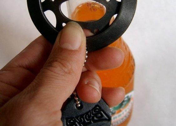 Recycled bike gear bottle opener by steeltoestudios on Etsy