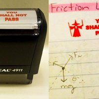 Gandalf teacher's stamp is the classiest way to fail students #EPIC