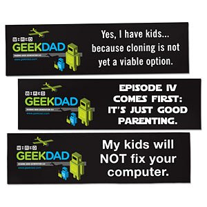 GeekDad Bumper Stickers and Mugs Now Available at ThinkGeek | GeekDad | Wired.com