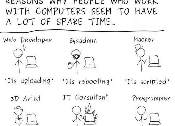 People Who Work With Computers Seem To Have A Lot Of Spare Time [Comic]