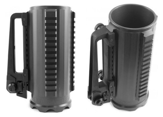 Tactical Beer Mug With Scope Mounts, AR-15 Handle | Geekologie - Gadgets, Gizmos, and Awesome