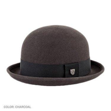 ☛ Brixton Hats Pack Bowler Hat (Charcoal) - Village Hat Shop
