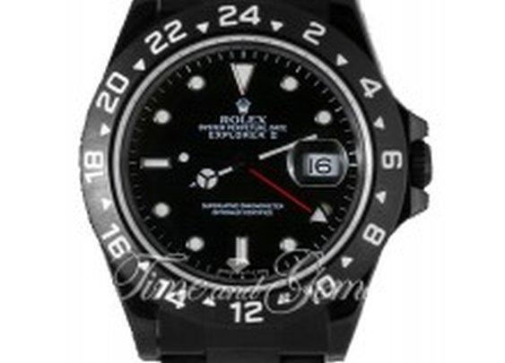 Rolex DLC/PVD Explorer II Black Dial