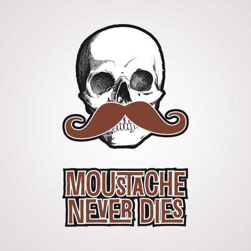 Moustache ne meurt jamais - Tatouage temporaire Bernard Forever