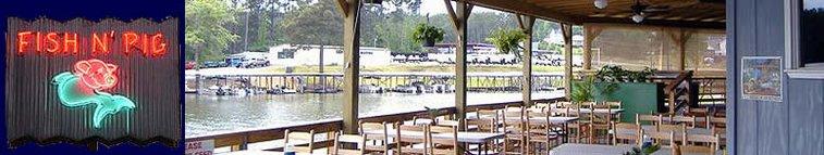 Fish N' Pig Restaurant on Lake Tobesofkee in Macon, Georgia