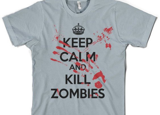Keep Calm Kill Zombies shirt our cool t shirt by CrazyDogTshirts
