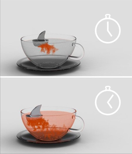 Sharky Tea Infuser by Pablo Matteoda