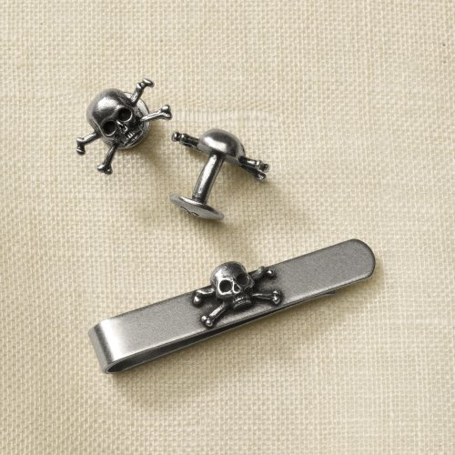 Cuff Link & Tie Bar Gift Set