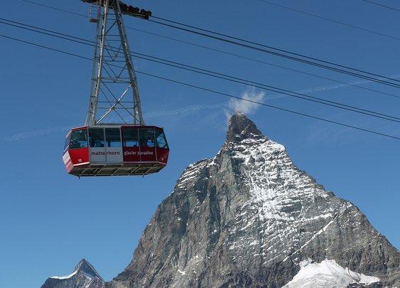 Matterhorn And Cablecar - How Swiss!