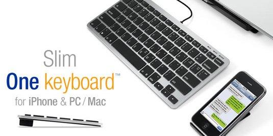 Slim One Keyboard for iPhone, PC & Mac