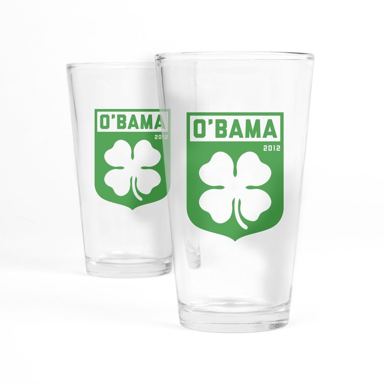 Official Obama pint glasses - POTUS approved.