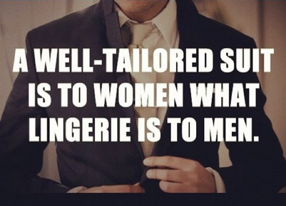 A Well-Tailored Suit is...