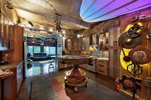 Surreal Steampunk Apartment.