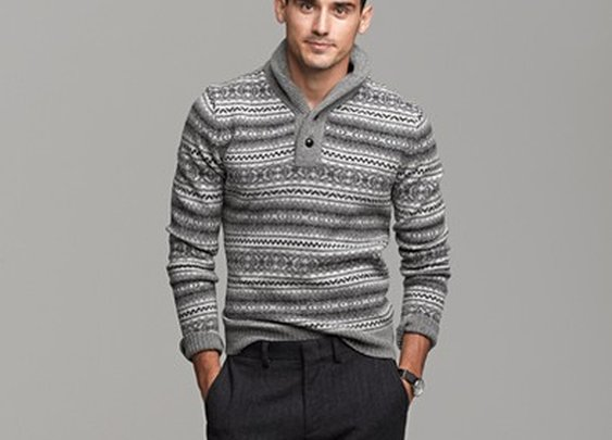 Lambswool Fair Isle shawl-collar sweater - AllProducts - sale - J.Crew