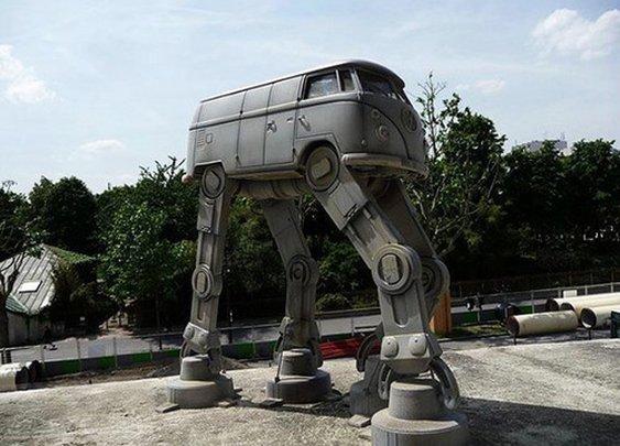 Volkswagen Bus AT-AT Walker - ReflectionOf.Me