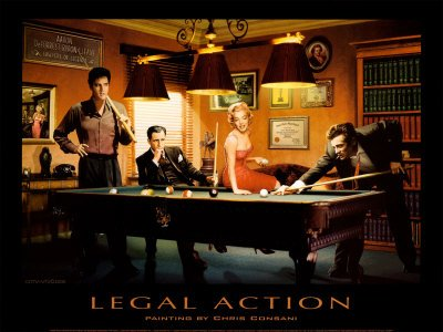 Legal Action Print by Chris Consani at Art.com