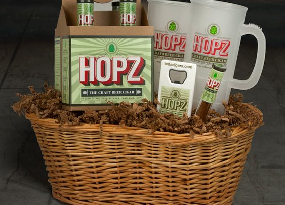 HOPZ Craft Beer Cigar Basket