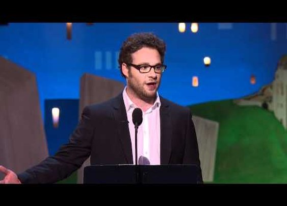 NSFW (language) Host Seth Rogen Kicks of the 2012 Spirit Awards      - YouTube