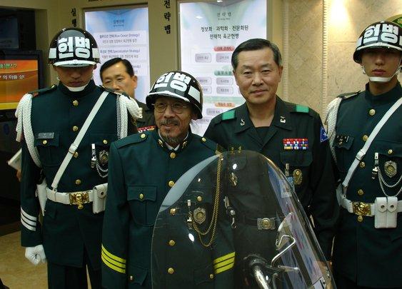 South Korean Military Police Helmets/Uniforms
