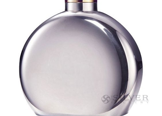 Sterling Silver Round Liquor Flask
