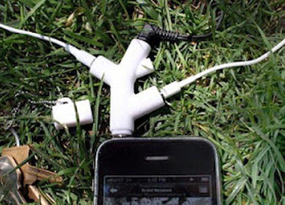 Kikkerland Branch 3-Way Head Phone Splitter