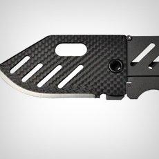 Creditor Carbon Fiber Money Clip Knife | Cool Material