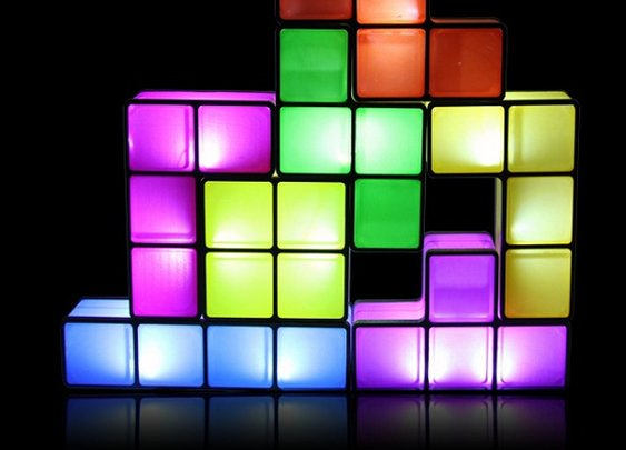 Tetris Desk Lamp will fit just about anywhere - The Red Ferret Journal