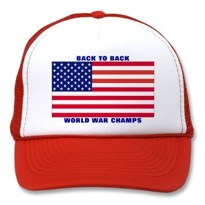 Undisputed world war champions hat from Zazzle.com