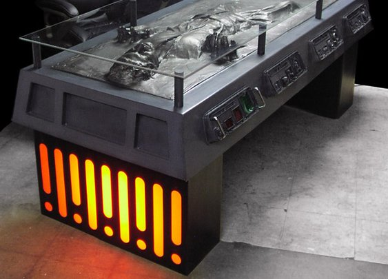 Han Solo Frozen in Carbonite Desk | Gadget Lab | Wired.com