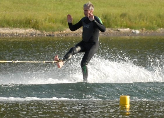 X-Files' Cigarette Smoking Man is Champion Water Skiier | Geekosystem