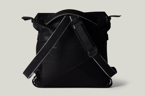 hard graft / Back2Back Laptop Bag / Nero