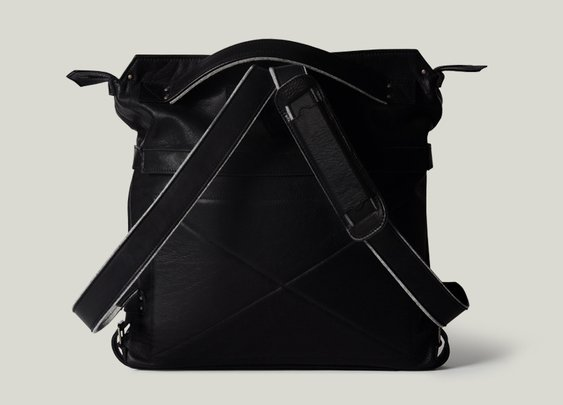 hard graft / Back2Back Laptop Bag / Nero