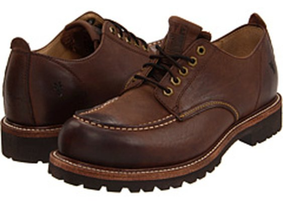 Frye Dakota Oxford Dark Brown Antique Pull Up