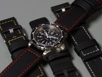 Maratac red stitched watch band