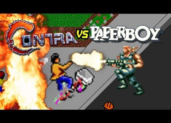 Contra vs. Paperboy - YouTube