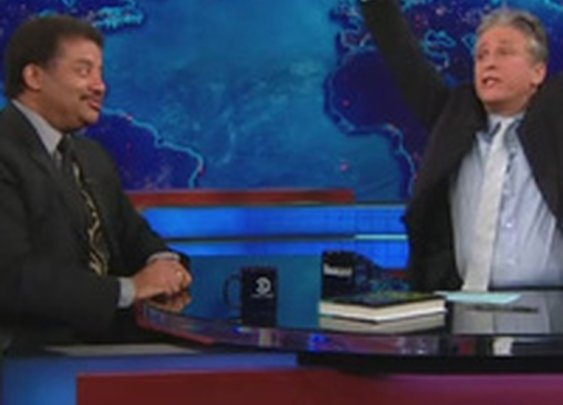 """Neil deGrasse Tyson to Jon Stewart: """"Your Earth is spinning the wrong direction."""""""