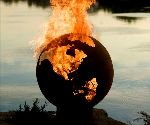Planet Earth Globe Fire Pit - DudeIWantThat.com