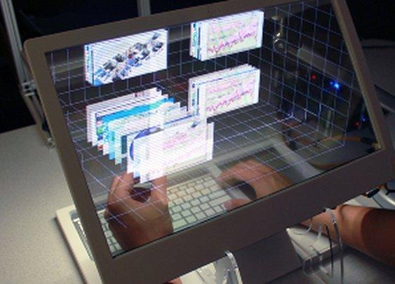 3D See Through Desktop