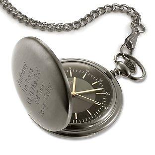 Satin Gunmetal Pocket Watch at Things Remembered