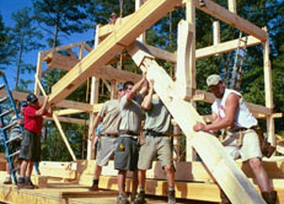 We raise a timber frame!